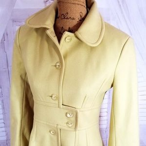 Wool Coat Jacket Trench French Connection sz 6